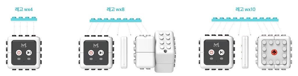 모듈의 외형 사이즈 및 레고 블록과 결합되는 이미지