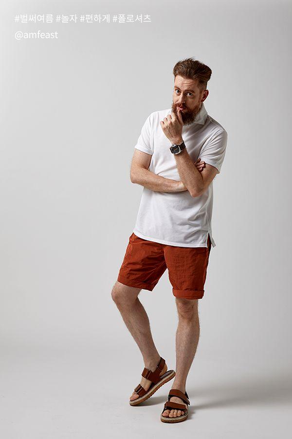 a90213d7dd1 유럽 패피들의 선택! 올 여름 완벽한 비즈니스 캐주얼룩[AMF 피케셔츠 ...